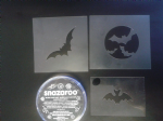 Bat Halloween face painting set including 3 different bat stencils and black face paint
